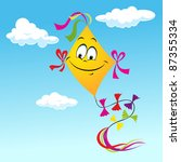 Kite Cartoon On Blue Sky