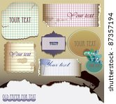 vector set   old paper for text.... | Shutterstock .eps vector #87357194