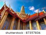 temple wat phra kaew temple... | Shutterstock . vector #87357836