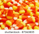 Closeup Of Colorful Candy Corn