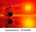 high resolution 3d render of... | Shutterstock . vector #8736400