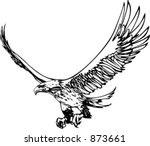 flting eagle   vehicle graphic. ...