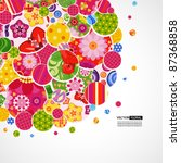background with floral and... | Shutterstock .eps vector #87368858