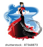 the beautiful spanish performed ... | Shutterstock .eps vector #87368873