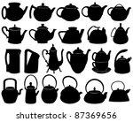 teapots | Shutterstock .eps vector #87369656