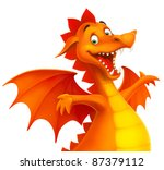 raster dragon cute smiling... | Shutterstock . vector #87379112