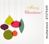 christmas card with ornaments | Shutterstock .eps vector #87379349