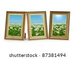 daisy flowers in the picture... | Shutterstock . vector #87381494