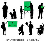 school pupils silhouettes on a... | Shutterstock .eps vector #8738767