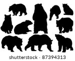 Ten Brown Adult Bears