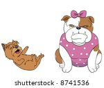 terrier treating things as a... | Shutterstock .eps vector #8741536