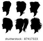 vector collection of women'... | Shutterstock .eps vector #87417323