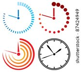 clock icons | Shutterstock .eps vector #87424949