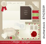 scrapbook elements for vintage... | Shutterstock .eps vector #87425039