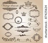 set of vintage elements for... | Shutterstock .eps vector #87425624