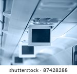 Display Screen  In The Airplane.