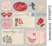 set of scrap booking beautiful... | Shutterstock .eps vector #87430073