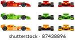 racing bolides set  side  front ...
