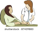 accident,bad news,care,consult,conversation,disabled,doctor,doctor and patient,health,holding hand,hospital,illustration,injury,medicine,palliative care