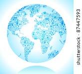 social network  communication... | Shutterstock .eps vector #87447593