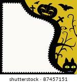 halloween postcard with friends. | Shutterstock .eps vector #87457151