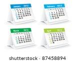 2012 Desk Calendar   Vector...