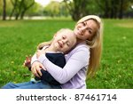 young mother playing with... | Shutterstock . vector #87461714