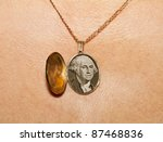 gold locket with a picture of...   Shutterstock . vector #87468836