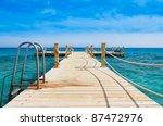 pier in heavenly blue place | Shutterstock . vector #87472976