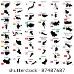 countries of asia | Shutterstock .eps vector #87487687