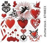 design elements for valentines...   Shutterstock .eps vector #8748823