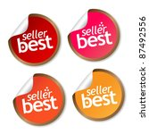 best seller stickers | Shutterstock .eps vector #87492556