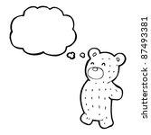 Teddy Bear Thinking Cartoon