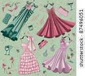 Set Of Women Fashion Clothes...