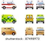 ambulance and cash van.  set of ... | Shutterstock .eps vector #87498973