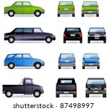 passenger cars  part 1 .  set... | Shutterstock .eps vector #87498997