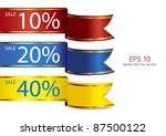 ribbon full color sale tag | Shutterstock .eps vector #87500122
