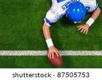 overhead photo of an american...   Shutterstock . vector #87505753
