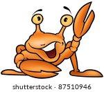 happy crab   colored cartoon... | Shutterstock . vector #87510946