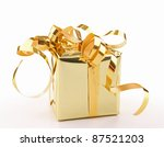 isolated gift box on white | Shutterstock . vector #87521203