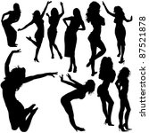 dancing girls   black... | Shutterstock . vector #87521878