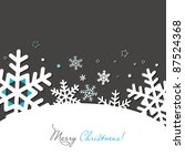 New year and Christmas card with snowflakes and stars - stock vector