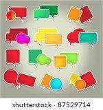 set of speech vector elements | Shutterstock .eps vector #87529714