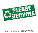 Please Recycle Grunge Rubber...