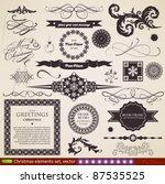 christmas decoration set   lots ... | Shutterstock .eps vector #87535525
