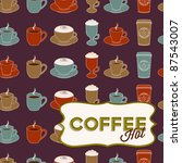 set of cups with different... | Shutterstock .eps vector #87543007