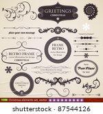 vector set  calligraphic design ... | Shutterstock .eps vector #87544126