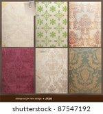 seamless wallpaper set for... | Shutterstock .eps vector #87547192
