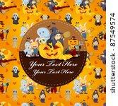 cartoon halloween card | Shutterstock .eps vector #87549574