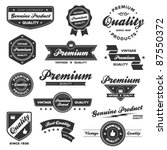 set of vintage retro premium... | Shutterstock .eps vector #87550372